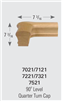 Crown Heritage Stair Parts - 7021 Level Quarter Turn Handrail Fittings | Stair Part Pros