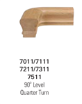 7211: Quarter Turn Handrail Fitting - 6210 Handrail Fittings | Stair Part Pros