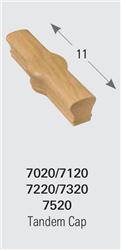 7220 Tandem Cap - Handrail Staircase Fittings | Stair Part Pros