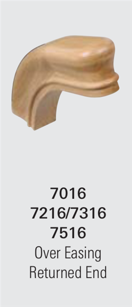 7316 Over Easing w/ Returned End - Staircase Handrail Fittings | Stair Part Pros