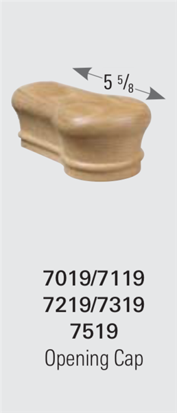 7519 Opening Cap - Handrail Staircase Fittings | Stair Part Pros
