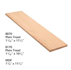 Crown Heritage Stair Parts Style Stair Parts 8070: Plain Tread | Stair Part Pros