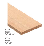 Crown Heritage Risers & Skirtboard Stair Parts 8078: Riser | Stair Part Pros