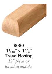 Stair Moldings, Brackets, & Rosettes 8080: Staircase Tread Nosing  | Stair Part Pros