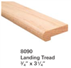 Replacement Parts for Staircase Treads 8090: Landing Tread | Stair Part Pros