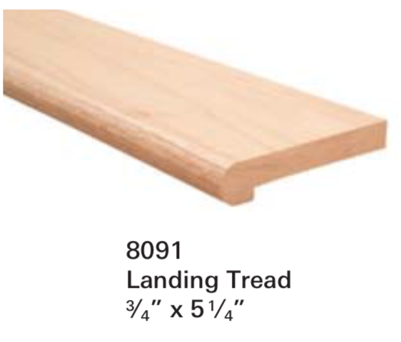 Replacement Parts for Staircase Treads 8091: Landing Tread | Stair Part Pros