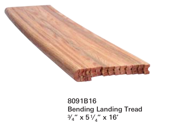 Replacement for Staircase Treads Series 8091B: Landing Tread | Stair Part Pros