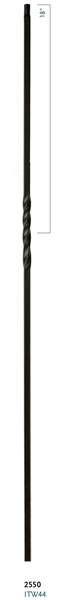 "C2550: 44"" Single Twist Baluster"