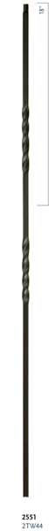 "C2551: 44"" Double Twist Baluster"