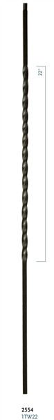 "C2554: 44"" Single Long Twist Baluster"