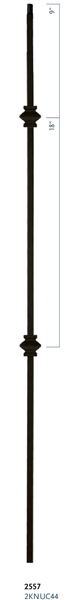 "C2557: 44"" Double Knuckle Baluster"