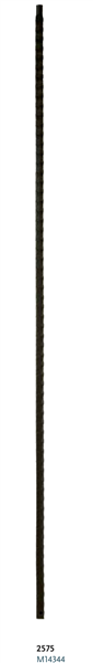 "Iron Stair Baluster Parts - C2575: 44"" Gothic Plain Baluster  