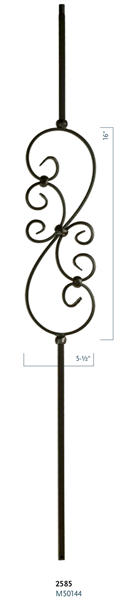 "C2585: 44"" Small Scroll Baluster"