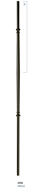 "C2596: 44"" Venetian Fluted Bar Baluster"