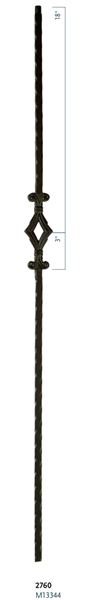 "C2760: 44"" Single Window Baluster"