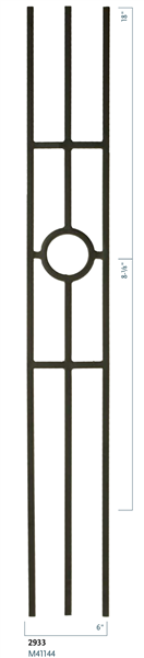 "Stair Baluster Parts - C2933: 44"" Three Legged Ring Baluster  