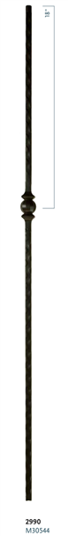 "Stair Baluster Parts - C2990: 44"" Single Forged Ball Baluster  