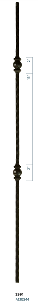 "C2991: 44"" Double Forged Ball Baluster"