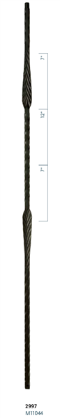 "C2997: 44"" Split Arrows Baluster"