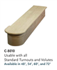 Parts for Staircase Starting Steps C8010: Reversible Starting Step | Stair Part Pros