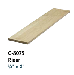 Risers & Skirtboard Staircase Parts Series C8075: Stair Risers | Stair Part Pros