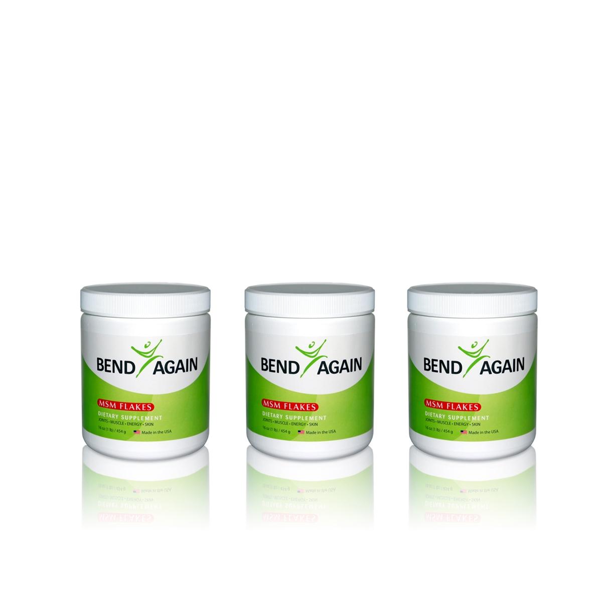 One-Year Supply of Bend Again MSM Bulk Flakes (375 servings)