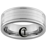 8mm Two-Grooved Tungsten Carbide with a Lasered Line Design
