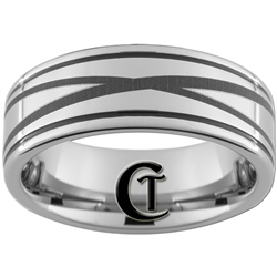 8mm Two-Grooved Tungsten Carbide with a Lasered Infinity Knot Design