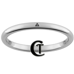 2mm Dome Tungsten Legend of Zelda Triforce Design Ring.