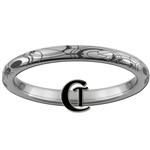 2mm Dome Tungsten Carbide Doctor Who Gallifreyan Design Ring.