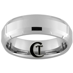 7mm Double Beveled Tungsten Carbide Wedding Ring.