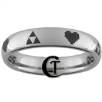 4mm Dome Tungsten Legend of Zelda Design Ring.