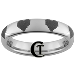 4mm Polished Tungsten Zelda 8-Bit Hearts Design Ring.