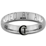 4mm Dome Tungsten Carbide Customizable Duck Band Design Ring.