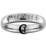 4mm Dome Tungsten Carbide Chopin Music design.