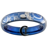 4mm Dome Blue Tungsten Carbide Doctor Who Design.
