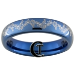 4mm Blue Dome Tungsten Carbide Holly Berries Ring Design.