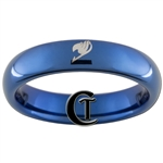 4mm Blue Dome Tungsten Carbide Fairy Tale Design Ring.