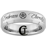 6mm Beveled Tungsten Carbide Embrace Eternity Mass Effect Renegade Design Ring.