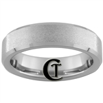 6mm Beveled Tungsten Carbide Stone Finish Ring.
