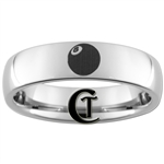 6mm Dome Tungsten Carbide 8-Ball Design Ring.