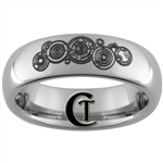 6mm Dome Tungsten Carbide Doctor Who Design Ring.