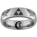 6mm Dome Tungsten Legend of Zelda Skyward Sword Design Ring.