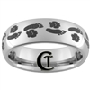 6mm Dome Tungsten Carbide Foot & Paw Print Design.