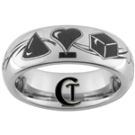6mm Dome Tungsten Carbide Love Symbols Design.