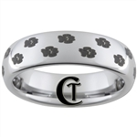 6mm Dome Tungsten Carbide Dog Paw Prints Design.