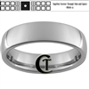 6mm Dome Tungsten Carbide Doctor Who Tardis and Quote Design Ring.