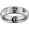 6mm Dome Tungsten Carbide Naruto Sharingan Design Ring.