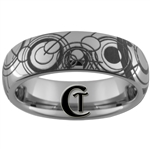 6mm Dome Tungsten Carbide Doctor Who Gallifreyan Design Ring.