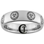 6mm Dome Tungsten Zombie Response Team Design Ring.